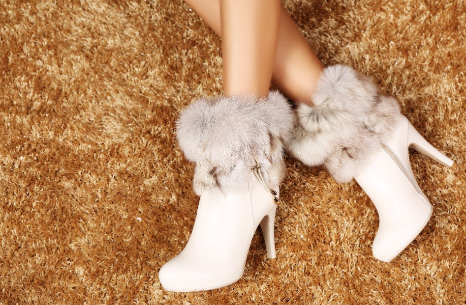 Women's Genuine Leather Faux Fur Ankle Boots - Swank & Swagger