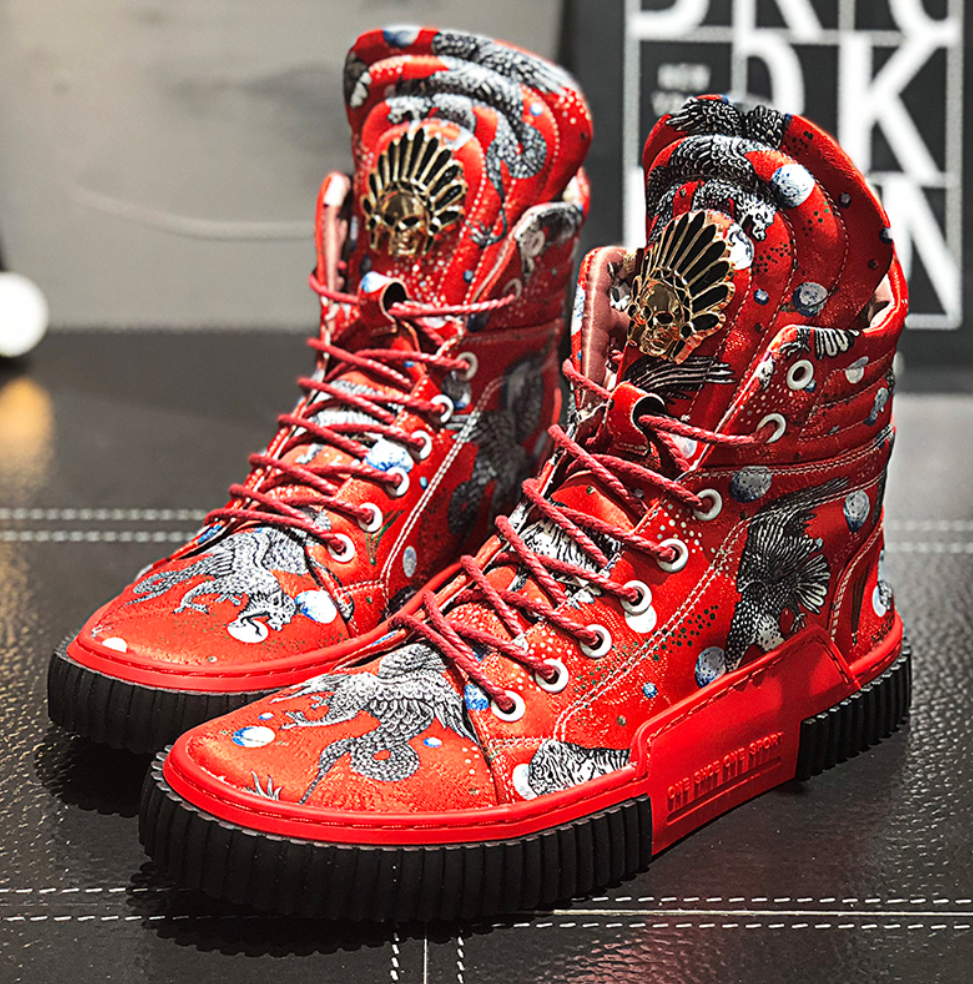 Urban High Top Designer Denim Boots - Swank & Swagger