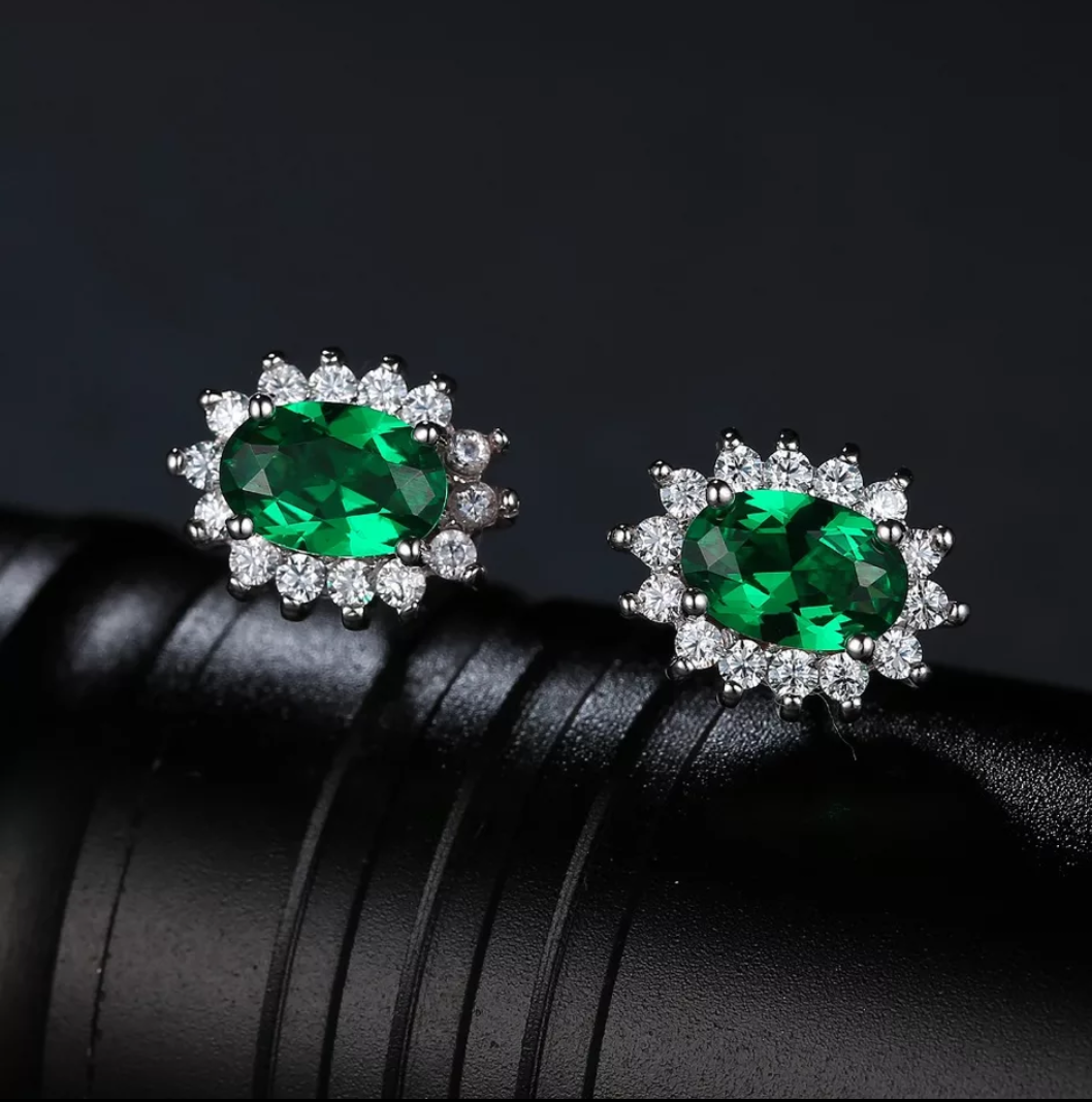 Lab Created Emerald Sterling Silver Jewelry Set - Swank & Swagger