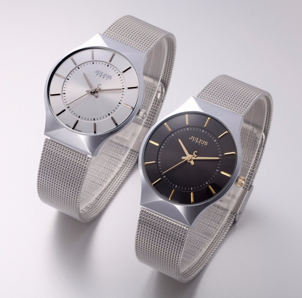 Ultra thin Stainless Steel Luxury Mesh Watch - Swank & Swagger