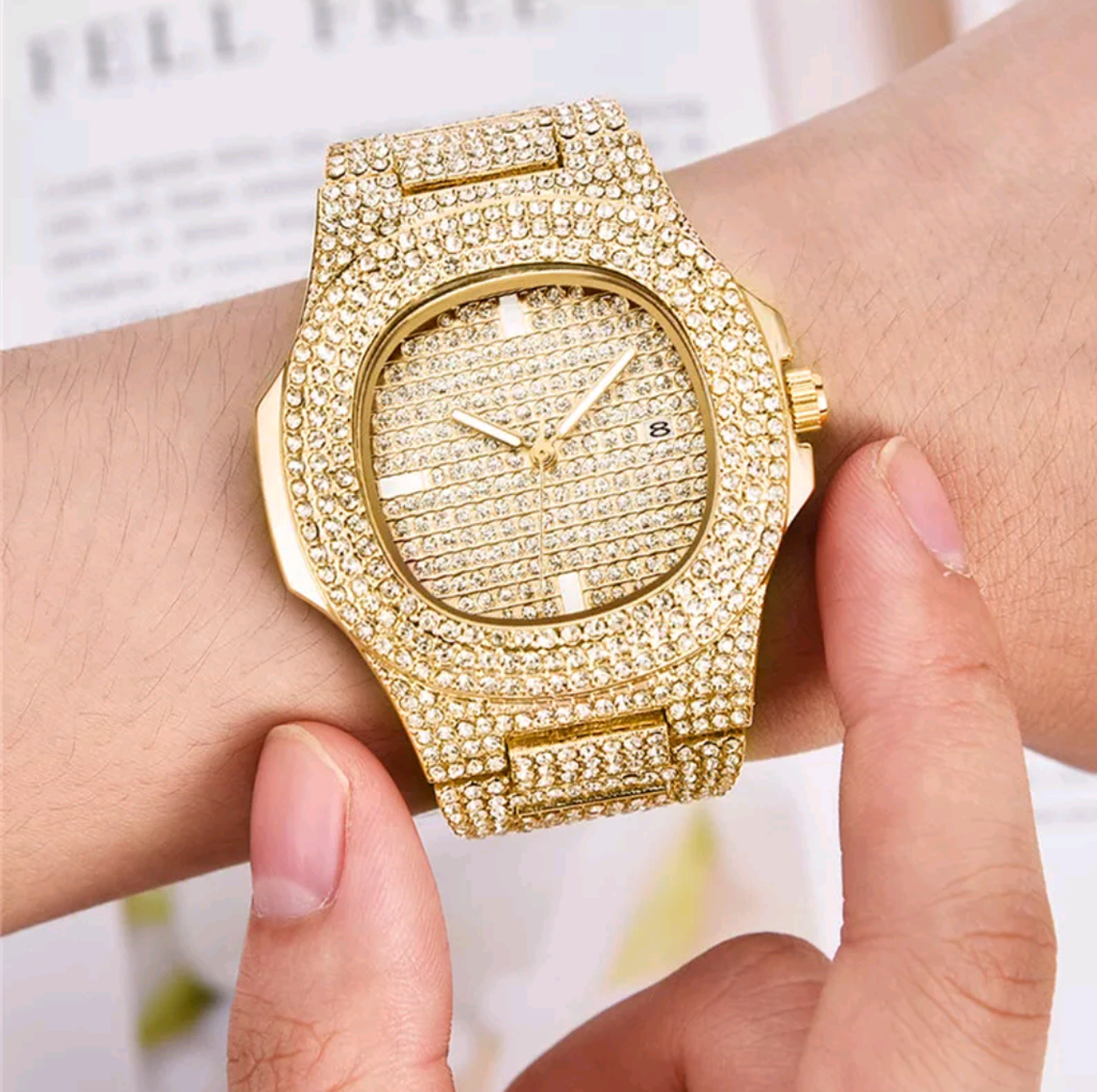 18k Gold Diamond Watch - Swank & Swagger