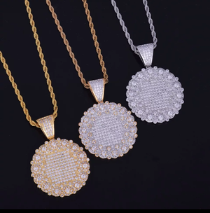 Iced Out Medallion Pendant Necklace - Swank & Swagger