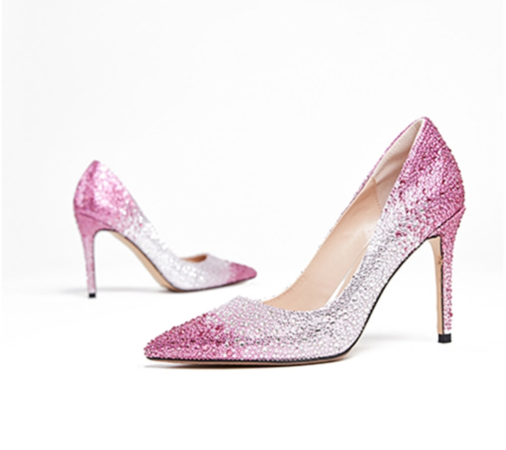 Crystal Stiletto Pumps - Swank & Swagger