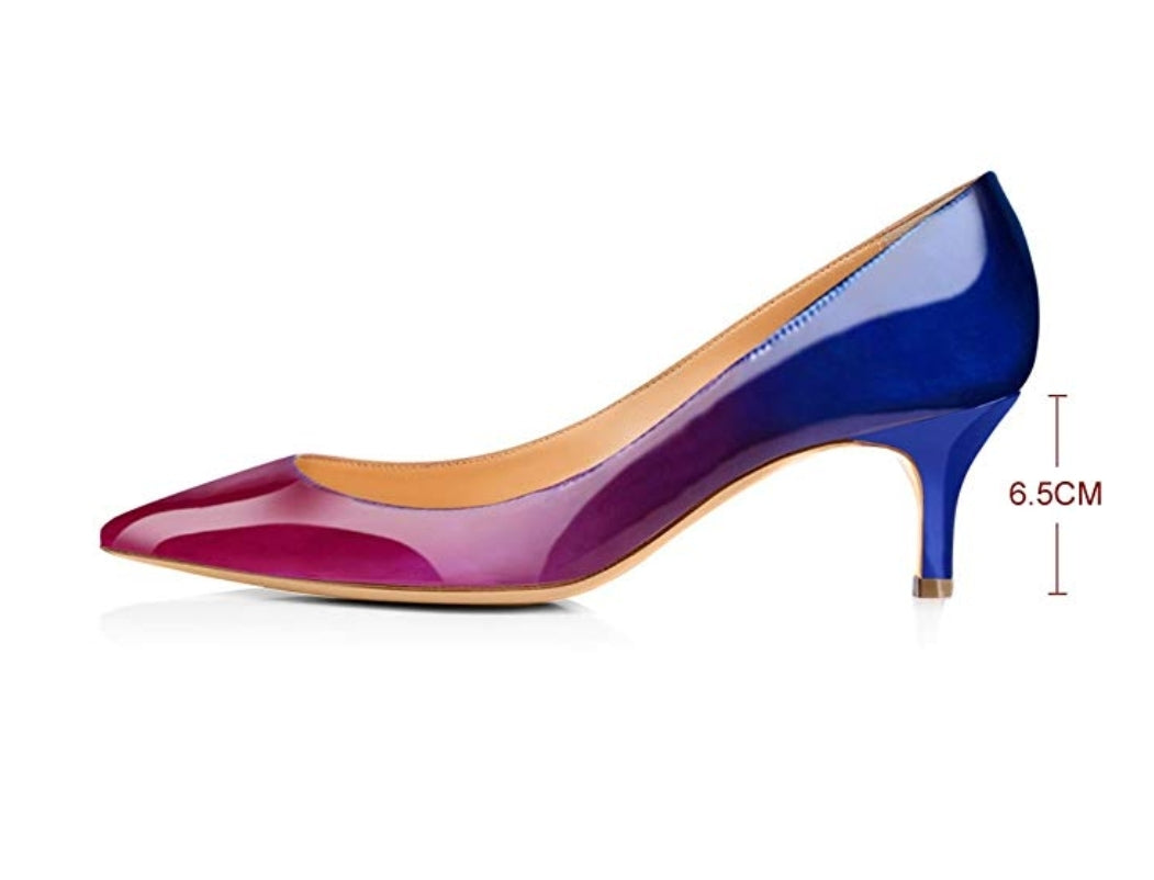 Gradient Vegan Leather Stiletto Pumps - Swank & Swagger