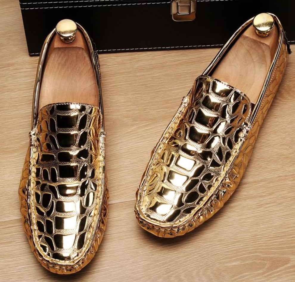 Alligator Embossed Luxury Loafers - Swank & Swagger