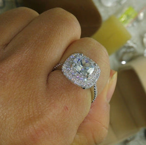 4ct CZ Diamond Sterling Silver Ring - Swank & Swagger
