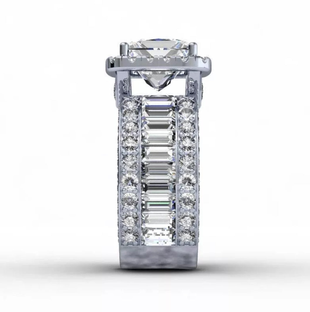 3ct Princess Cut Engagement Ring - Swank & Swagger