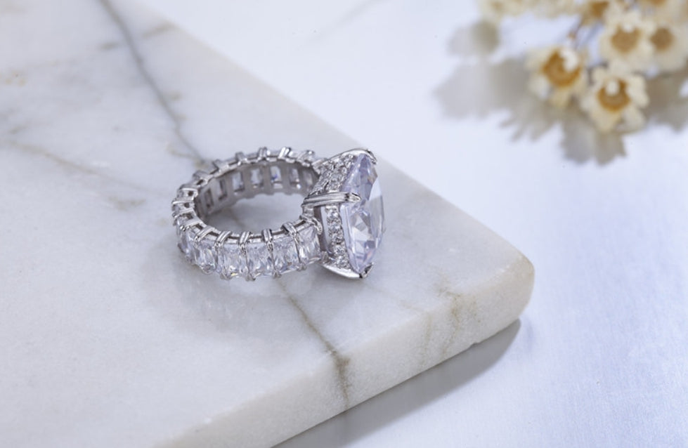8ct Eternity Band Engagement Ring - Swank & Swagger