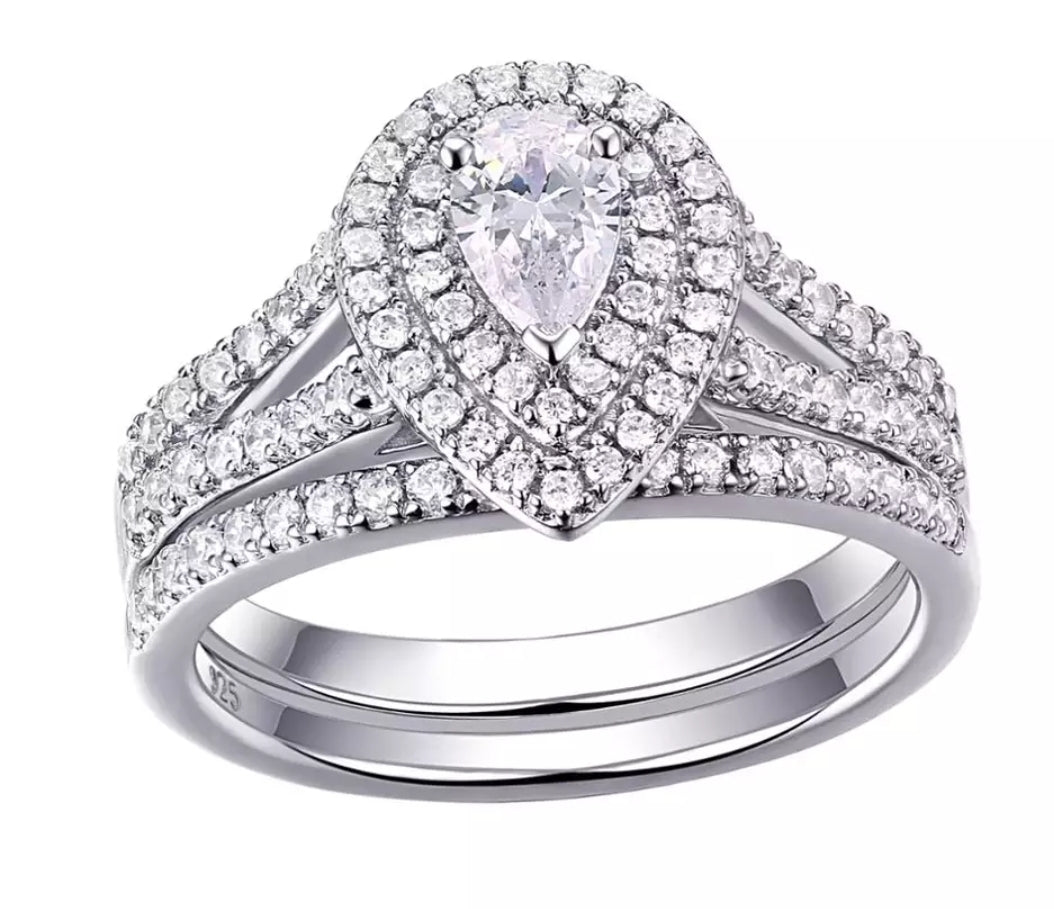 1.2ct CZ Diamond Bridal Set Rings - Swank & Swagger