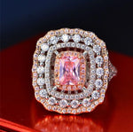 Vintage Style Pink Topaz Ring - Swank & Swagger