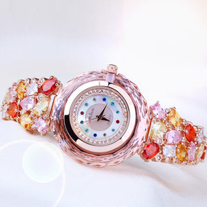 Lavish Luxury Platinum/Rose Gold CZ Diamond Watch - Swank & Swagger