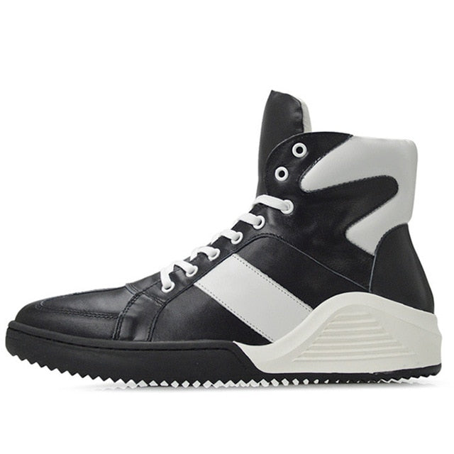 Leather Luxury High Top Boots - Swank & Swagger