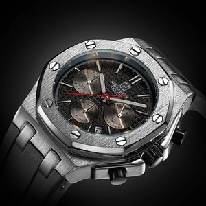 Luxury Sports Chronograph Quartz Wristwatch - Swank & Swagger