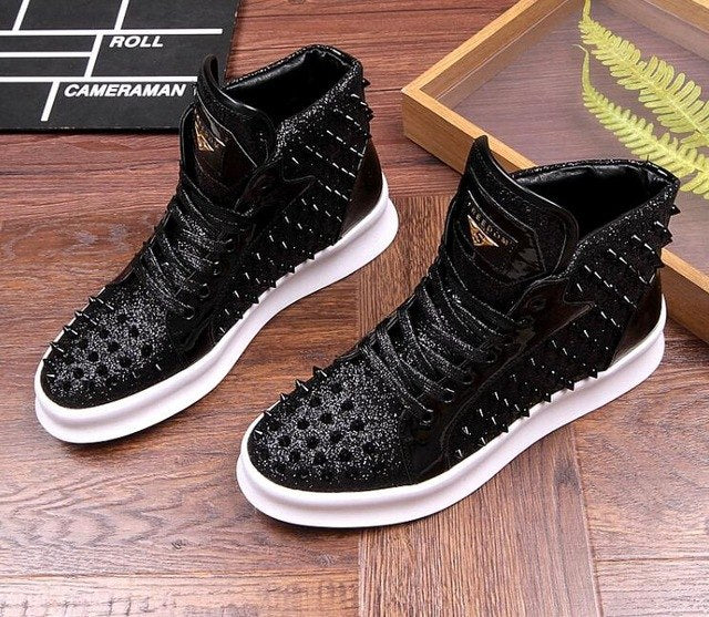 Rivet High-Top Sneakers - Swank & Swagger