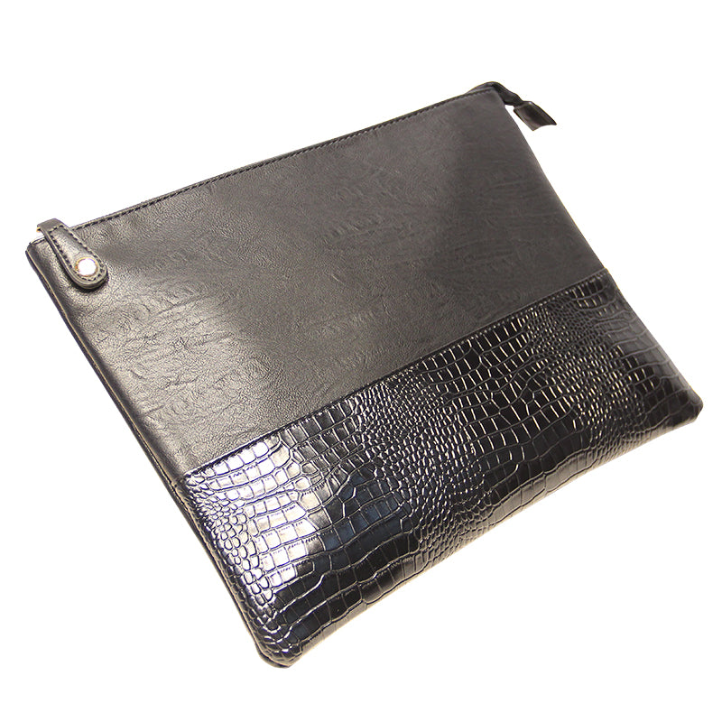 Alligator Embossed Executive Crossbody Clutch - Swank & Swagger
