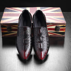Men's High Quality, Luxury, Designer Crocodile Pattern Dress Shoes - Swank & Swagger