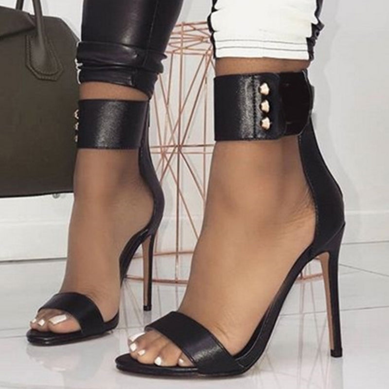 Women's Riveted Strap Gladiator Sandals - Swank & Swagger