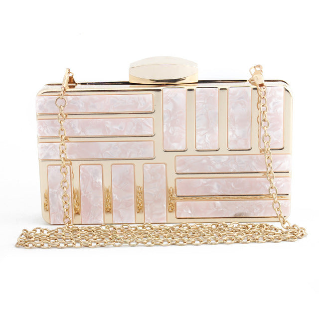 Marble Pattern Fashion Evening Clutch - Swank & Swagger