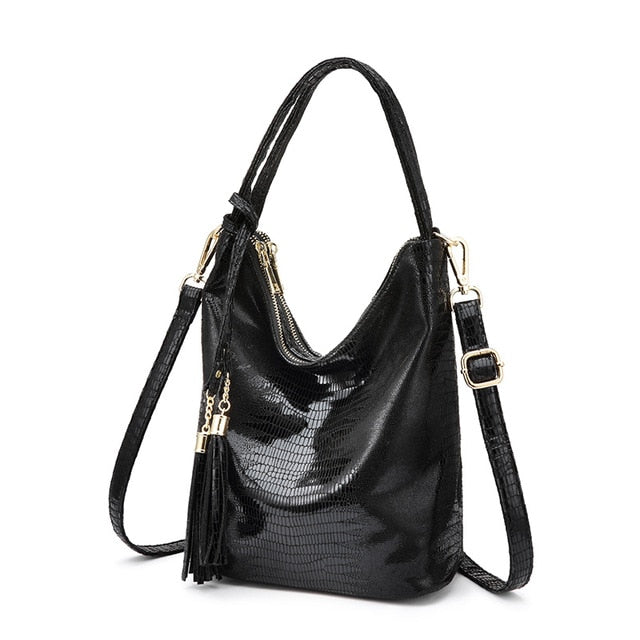 Metallic Python Fashion Shoulder Bag - Swank & Swagger