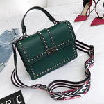 Edgy Chic Riveted Crossbody Handbag - Swank & Swagger