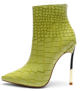 Women's Luxury Crocodile Embossed High Heel Stilettos - Swank & Swagger