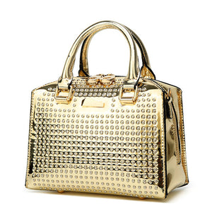 Retro Rivet Crossbody Handbag - Swank & Swagger