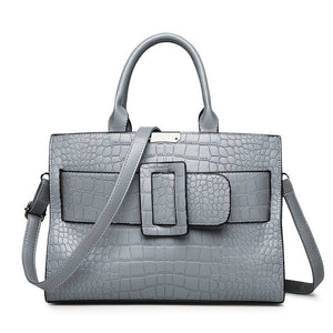 Luxury Alligator Embossed Executive Messenger Bag - Swank & Swagger