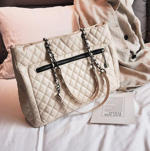 Large Diamond Lattice Shoulder Bag - Swank & Swagger