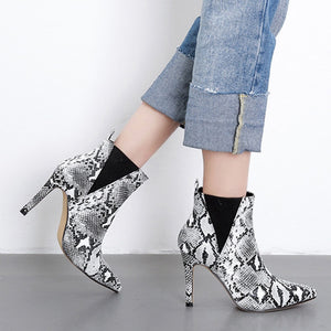 Women's Python High Heel Boots - Swank & Swagger