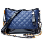 Diamond Lattice Leather Crossbody Handbag - Swank & Swagger