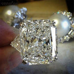 8ct CZ Diamond Sterling Silver Engagement Ring - Swank & Swagger