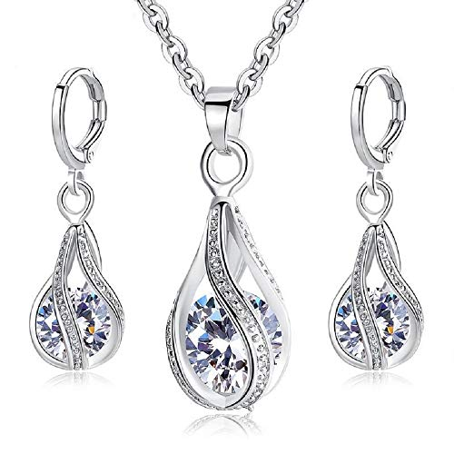 f27b877b4 Load image into Gallery viewer, Maylena Belle 925 Sterling Silver Cubic  Zirconia Teardrop Cage Pendant ...