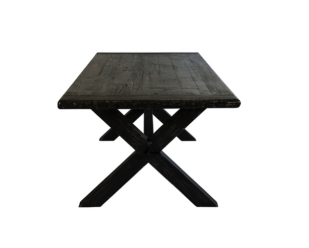 Spisestuebord ⎪ Cross Dining Table Black 220x100x78cm