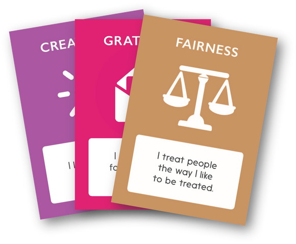 Character Strength Symbols and Definitions Card Deck