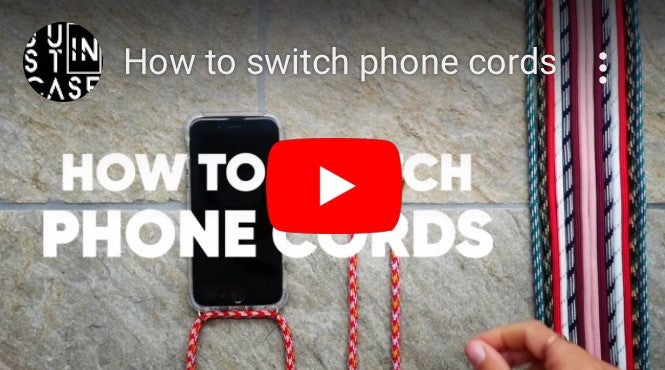 Switching cord on smartphone necklace