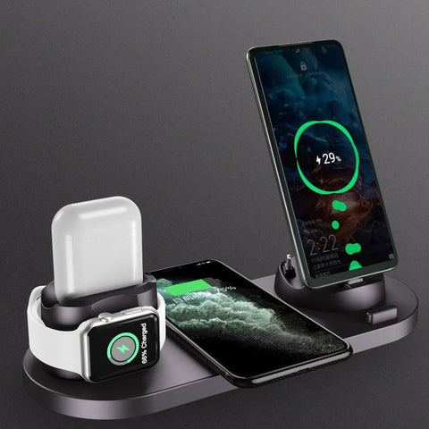 Six-in-one wireless charger for mobile phones (6178527248568)