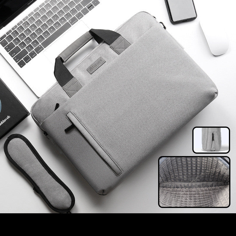 Portable Solid Color Large Capacity Laptop Bag (6178563915960)