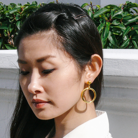 Audrey Chunky Hoop Gold Vermeil  Earrings by Misia Mae