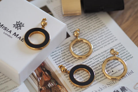 Graphic no1 Hoop Earrings by Misia Mae