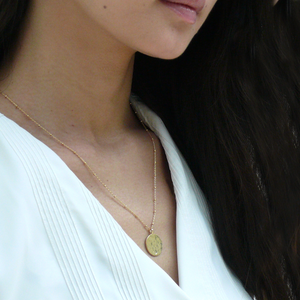 THEA Gold Vermeil Coin Necklace - Misia Mae