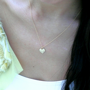 Gold Vermeil Dainty Heart Necklace - Misia Mae London