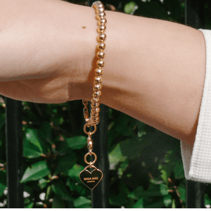 Heart Charm Gold Bracelet by Misia Mae