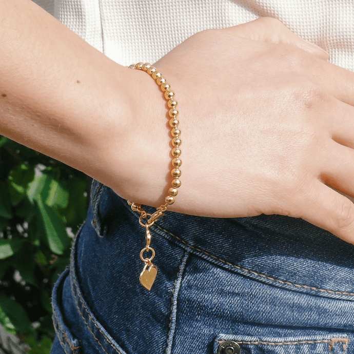 Audrey Gold Vermeil Ball Bracelet for Women - Misia Mae London