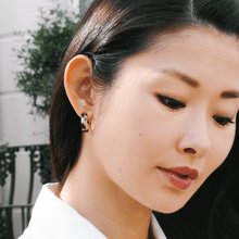 Load image into Gallery viewer, Mini tortoise shell hoop earrings by Misia Mae
