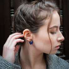 Load image into Gallery viewer, OLIVIA Blue Tortoise Shell Earrings - Misia Mae
