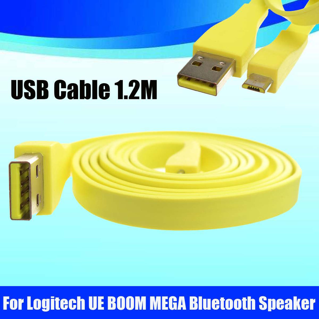 1.2M Micro USB PC Charger Cable for Logitech UE MEGABOOM Bluetooth Speaker Data Transfer USB Extension Cord