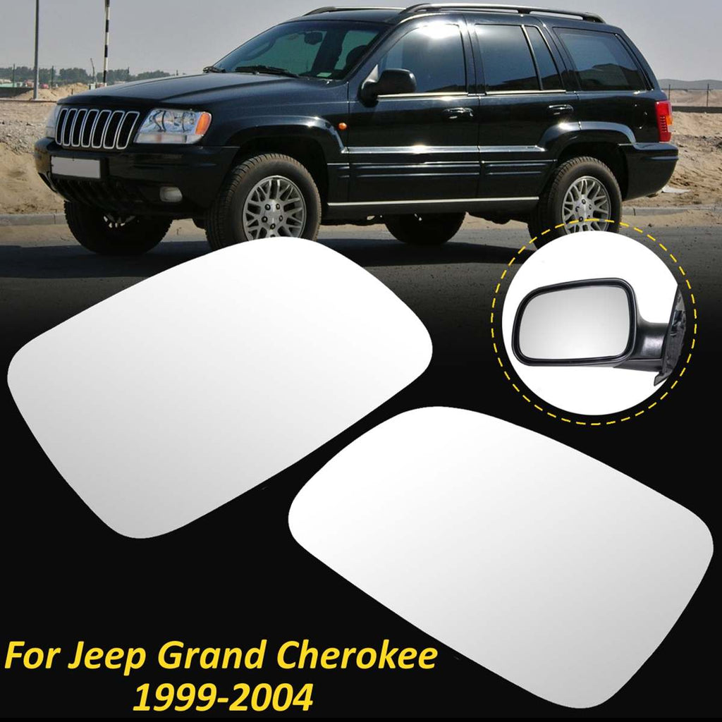 Left Side Rearview Wing Mirror Glass Lens For Jeep Grand Cherokee 1999-2004