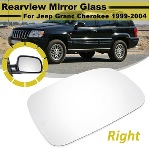 Right Side Rearview Wing Mirror Glass Lens For Jeep Grand Cherokee 1999-2004