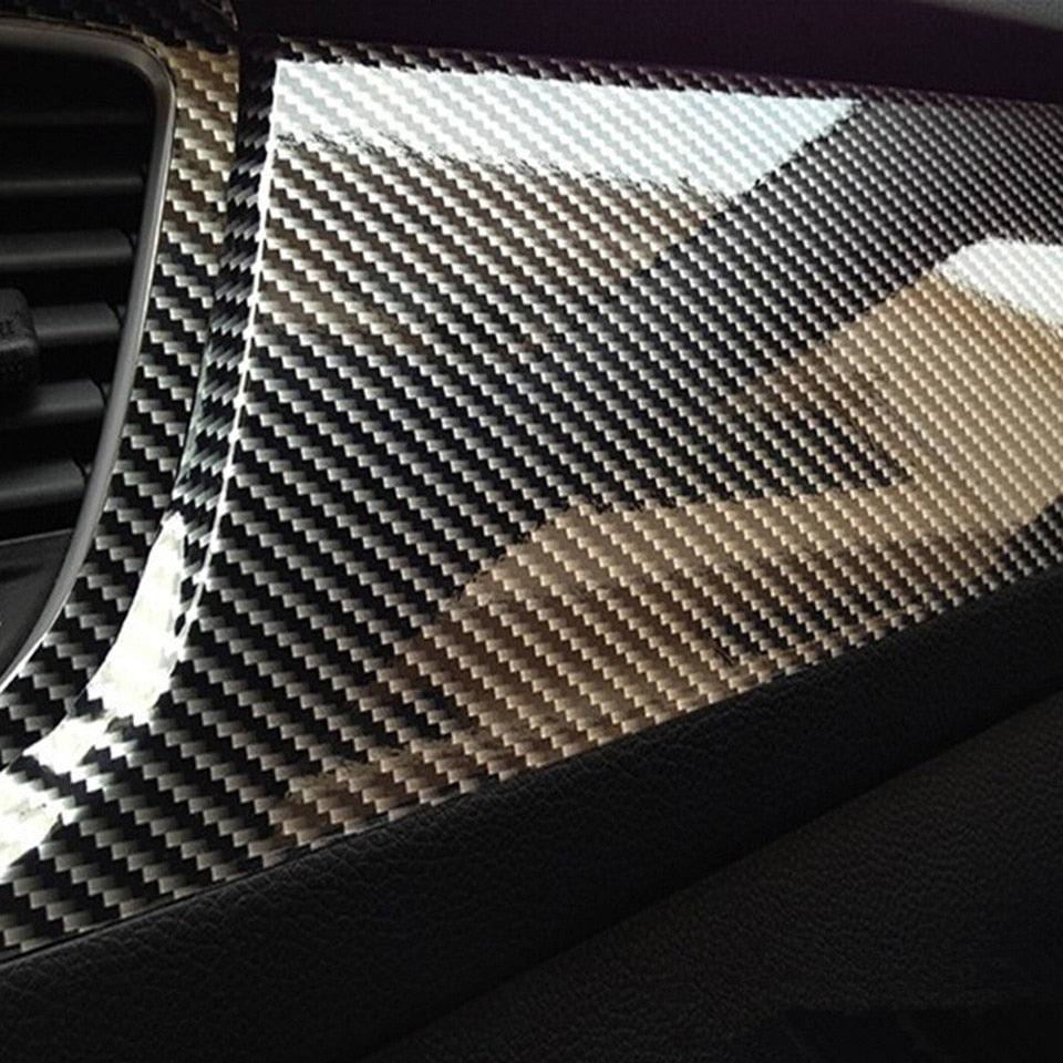 5D High Glossy Carbon Fiber Vinyl Film Car Styling Wrap Motorcycle Carbon Fiber Film