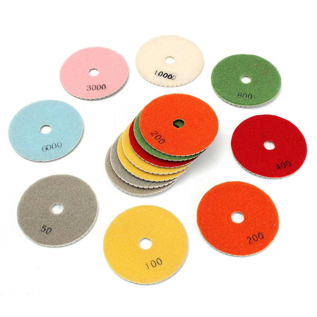**SPECIAL** 16pcs Diamond Polishing Pads Kit Wet/Dry for Granite Stone Concrete